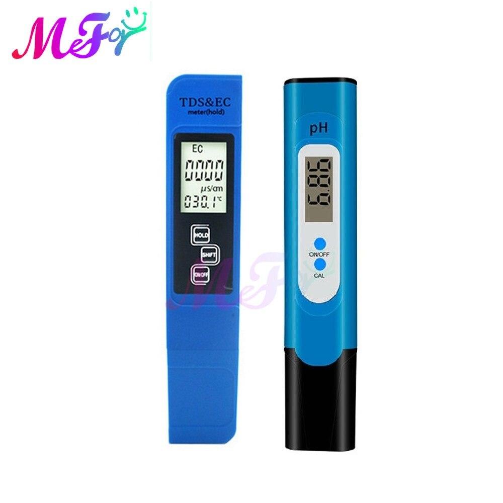 TDS/EC/PH/Temperature Meter+Battery 0 14 PH Water Tester 0 9990ppm Digital LCD Water Purity PPM Aquarium Filter Water Wine Urine PH Meters  - AliExpress