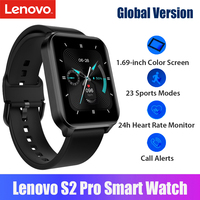 Globale Version Lenovo S2 Pro Smart Band Thermometer Herz Rate Schlaf Monitor Fitness Armband IPS Touchscreen Wasserdichte Uhr