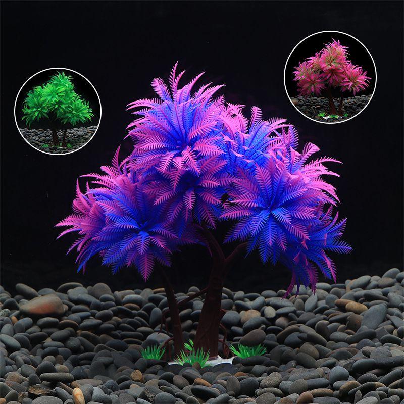 Pet Fish Tank Aquarium Landscaping Decoration Ornaments Simulation Water Grass Sand Table Bonsai Supply On Aliexpress