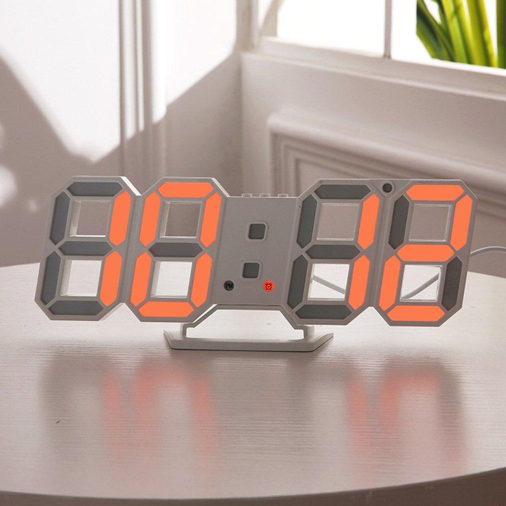 3D светодиодный настенные цифровые часы Современный дизайн большие электронные часы ночник настольные часы украшение дома повесить электронные часы|Настенные часы|   | АлиЭкспресс