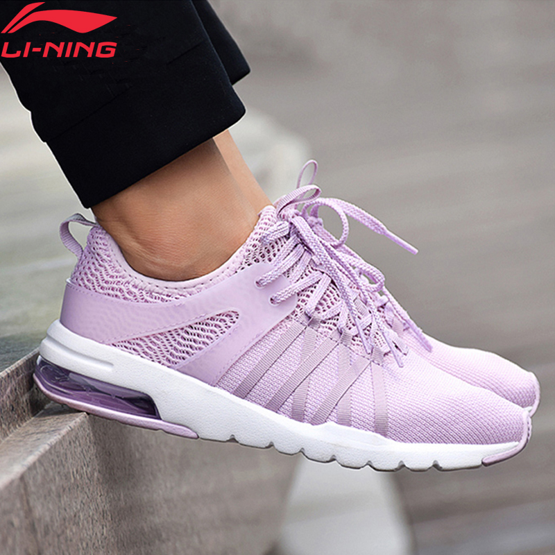 Li-Ning Women BUBBLE UP Lifestyle Shoes Air Cushion Wearable LiNing Li Ning Sport Shoes Breathable Sneakers AGCN136 YXB174