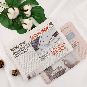 Image 1 - 2pcs/set Vintage Style English Newspaper Decoration Items Photography Backdrops for Food Flowers Cosmetic Shoot Background Props