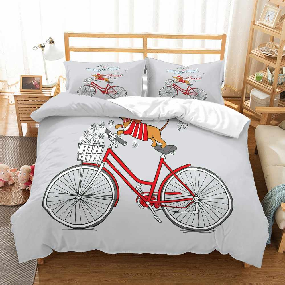 Funny Dog Bedding Set Dachshund Painting Super Soft Microfiber Duvet Cover Set Pillowcase Twin Queen King Size Bed Set Bedspread