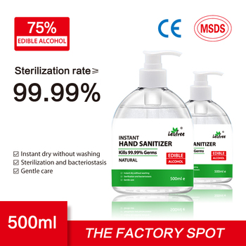 500ml Sterilization Hand Sanitizer Gel Instant 75% Alcohol Antibacterial Quick Dry Home Office Disinfection Gel For Kids Adults
