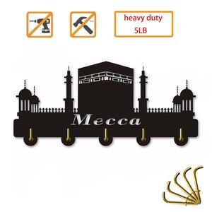 Мекка город священный пейзаж ислам здание двери настенный крючок вешалка Сумочка Ванная комната Кухня Ретро Ключи держатель