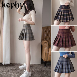 Women Mini Pleat Skirt Harajuku Preppy Style Plaid Skirts Cute Japanese School Uniforms Ladies Jupe Kawaii Skirt Saia Faldas(China)