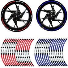 Светоотражающая лента для колес мотоцикла, автомобильные наклейки для Honda KTM YAMAHA, 10