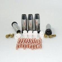 MB 24KD Torche De Soudage Consommables 35 pièces 0.8mm 1.0mm 1.2mm MIG Torche Gaz Buse de Gaz de Titulaire diffuseur de MIG MAG Machine De Soudage