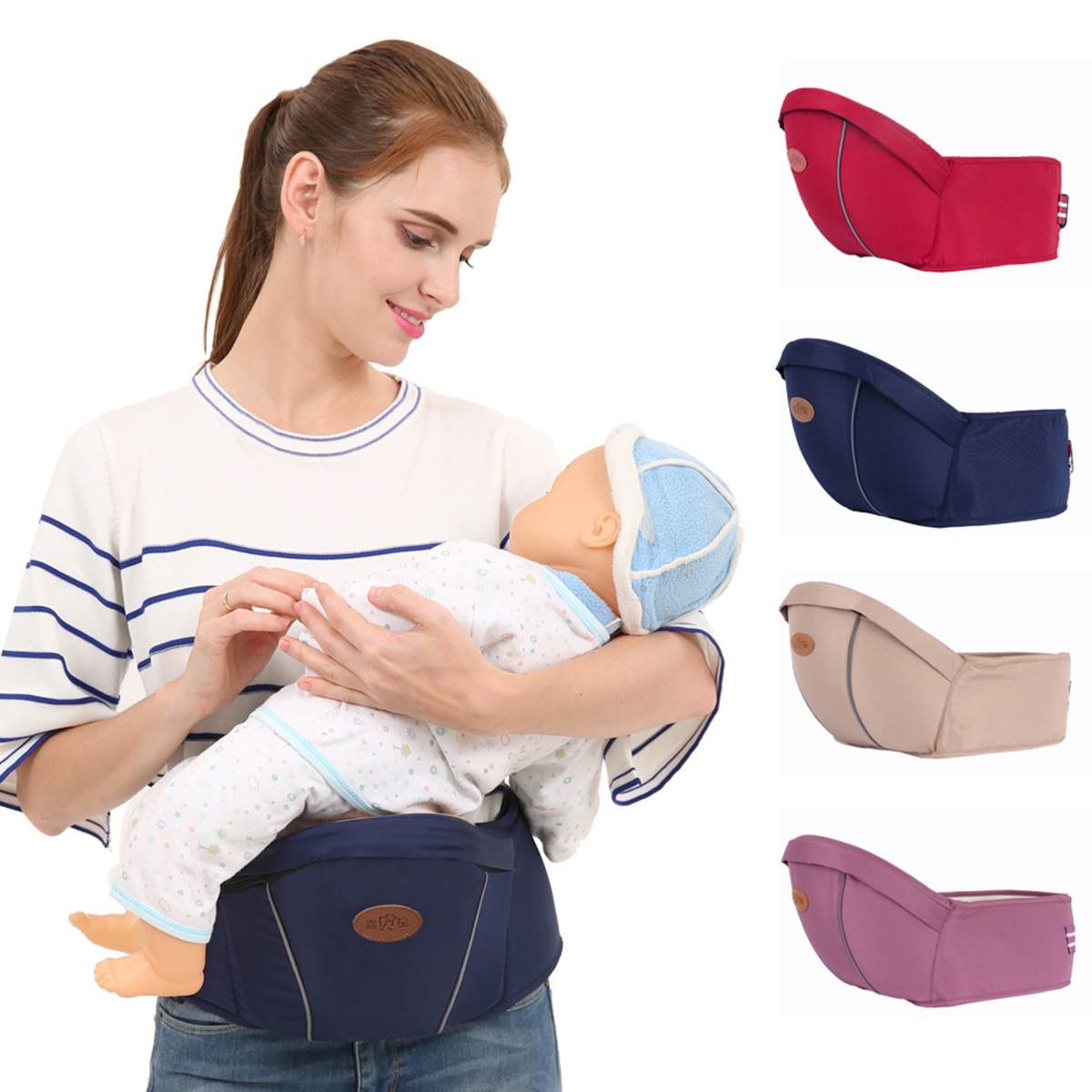 Puseky Baby Carrier Waist Stool Walkers Baby Sling Hold Waist Belt Backpack Hipseat Belt Kids Infant Hip Seat New