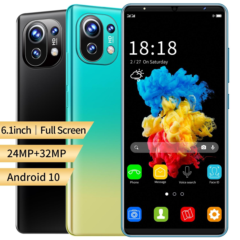 Глобальная Версия Телефона Xiao M11 смартфонов 6,1 inch двойной Sim12GB 512 ГБ Встроенная память MTK6889 Android 10,0 Deca Core Dual SIM