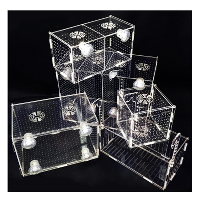 Aquarium Breeding Box Acrylic Isolation Fish Hatching Breeding Multi-grid Boxes Aquarium Incubator