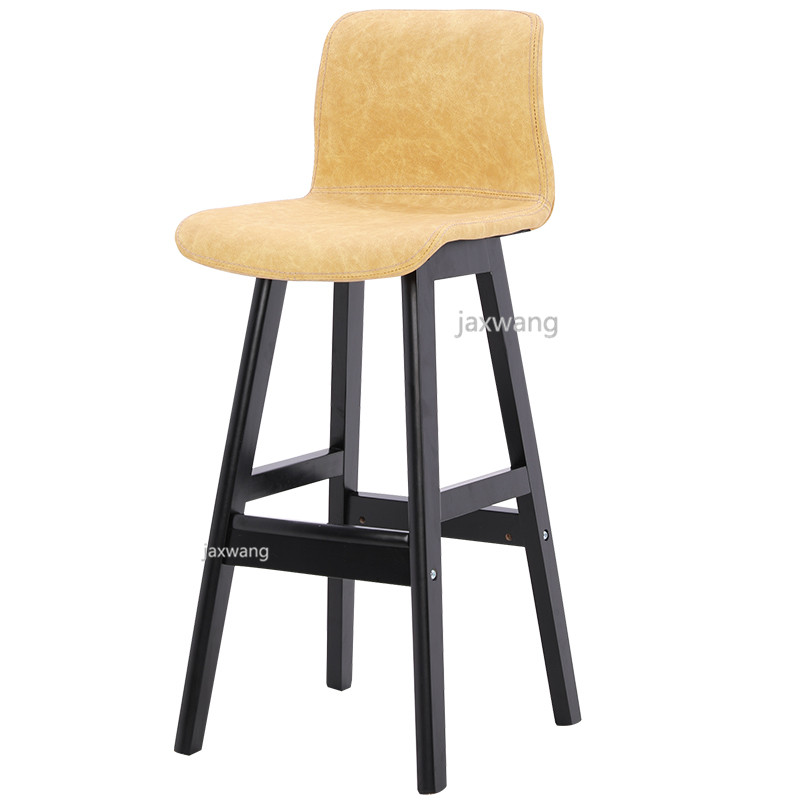 Wood Bar Stool Dining Chair Counter Height Kitchen Breakfast