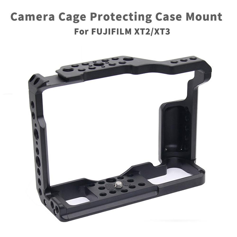 CNC Aluminium Caméra Cage pour Fujifilm X-T3/XT3/XT2/X-T2 DSLR Photographie Stabilisateur Appareil étui de protection à dégagement Rapide Soutien