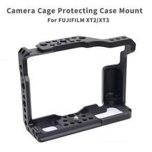 X T3 liga de alumínio câmera gaiola vídeo para fujifilm XT 2 X T3 dslr câmera gaiola estabilizador rig capa protetora caso