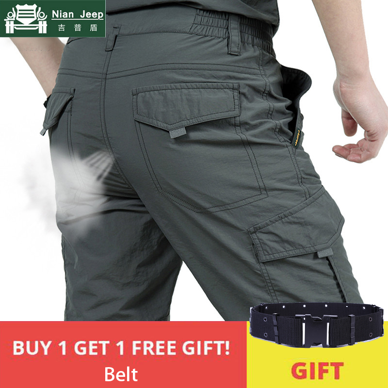 Summer Quick Dry Military Pants Men Lightweight Breathable Trousers Men Tactical Cargo Pants Male Waterproof Joggers Size M-4XL