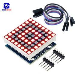 Diymore MAX7219 8x8 светодиодный модуль точечной матрицы, общий катод MCU управления, светодиодный дисплей, плата 5Pin Dupont кабель для Arduino DIY Kit