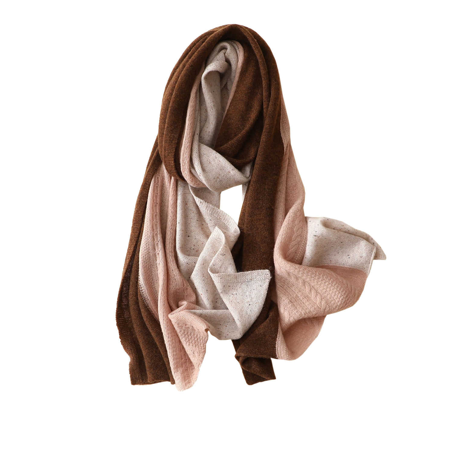 Ka Sana New Style 100% Cashmere Scarf Women's Thin Air Conditioner Autumn & Winter Warm Mixed Colors Simple Fashion Shawl