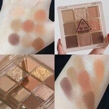 9 Colors Nude Shining Eyeshadow Matte Makeup Eye Shadow Palette Long Lasting Waterproof Powder Eye Shadow Makeup Kit Accessories