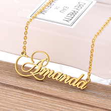 Custom Fashion Name Necklace for Women Girls Personalized Letter Gold Choker Necklaces Pendant Nameplate Best Bff Jewelry Gift