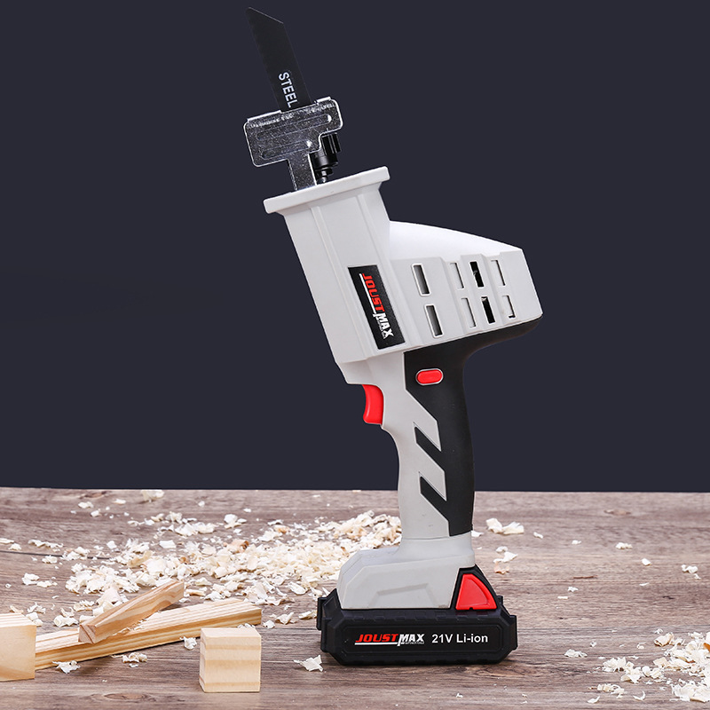 Lithium Reciprocating Saw Household Multi-functional Hand Electric Saw Woodworking Electric Saw Hand Saw Metal Small Sabre Saw W