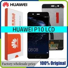 """מקורי 5.1 """"LCD עבור Huawei P10 LCD תצוגת מסך מגע Digitizer עצרת עם מסגרת החלפת VTR L09 VTR L10 VTR L29"""