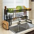 Edelstahl Küche Regal Organizer Gerichte Trocknen Rack Über Waschbecken Abfluss Rack Küche Lagerung Arbeitsplatte Utensilien Halter