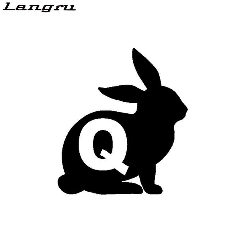 RABBIT Q Qanon Q ANON PATRIOT TRUMP WINDOW CAR LAPTOP 8 IN DECAL STICKER BLACK