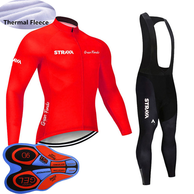 New Men Winter Cycling Jersey Long Sleeve Thermal Fleece Bicycle Uniform MTB Bike shirt bib/ pants suit Maillot Ciclismo Y101501|Cycling Sets| |  - title=