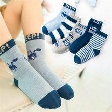 10 шт/лот Милые Удобные хлопковые носки с надписью на машине