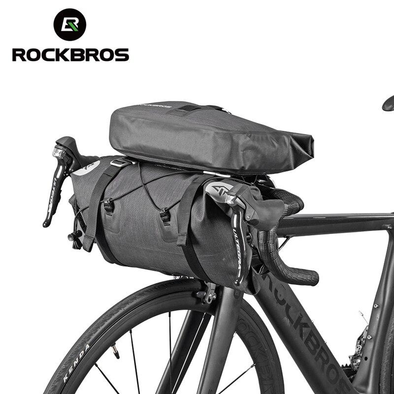 ROCKBROS водонепроницаемые велосипедные сумки с большой вместительностью, MTB велосипедные сумки на руль, передняя рама для багажника, Аксессуа...