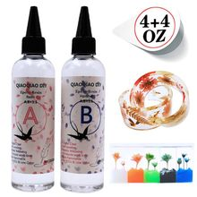 8 Ounce Quick Curing AB Resin 1:1 Kit Clear Hard Epoxy Resin Jewelry Making Tool