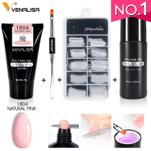 45g VENALISA Poly Gel Kits French Nail Art Clear Camouflage Color Nail Tip Form Crystal UV Gel Polygel Slice Brush Nail Gel zwtale polygel nail art clear camouflage color nail tip form crystal uv gel nail polish led acrylic builder tips poly gel