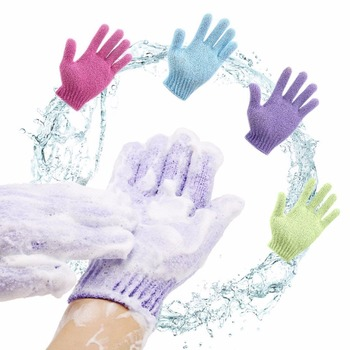 Bath For Peeling Exfoliating Mitt Glove For Shower Scrub Gloves Resistance Body Massage Sponge Wash Skin Moisturizing SPA Foam недорого