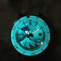 Tuna SBDC051/053 Men Automatic Watches Full Luminous Kanagawa Ocean Wave Dial 200m WaterProof Stainless Steel diving Wrist watch
