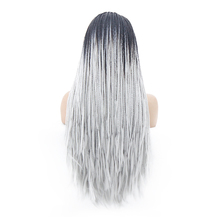 Ombre Synthetic Lace Front Braid Wigs for Black Women Brazil African American Braided Artificial Hair Braids Wigs
