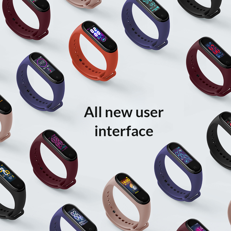 Xiaomi mi Band 4 Smart mi band 3 Цвета экран Браслет фитнес-трекер для измерения сердечного ритма Bluetooth 5,0 водонепроницаемый банда4