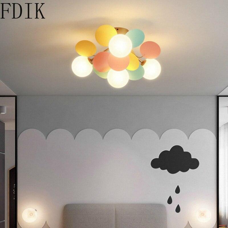 Moderno lâmpadas de teto multicolorido flor luzes de teto para sala estar das crianças lâmpada led iluminação interior novo