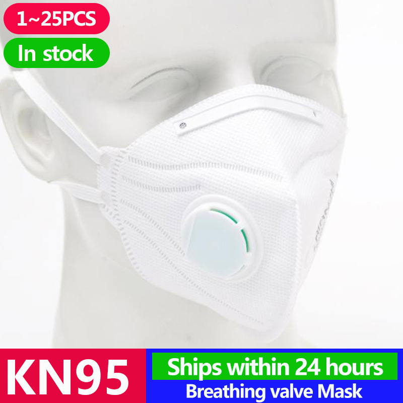 1~25PCS KN95 Masks Antivirus Disposable Pm2.5 Face Mouth Mask Flu Facia Dust Filter Mascarilla Respirator Template FFP2 FFP3