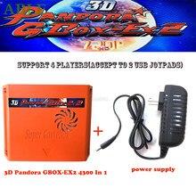 Placa base 4300 en 1 para juegos de GBOX-EX2 Pandora 3D, juego de controlador inalámbrico con cable USB, WIFI, descarga en línea