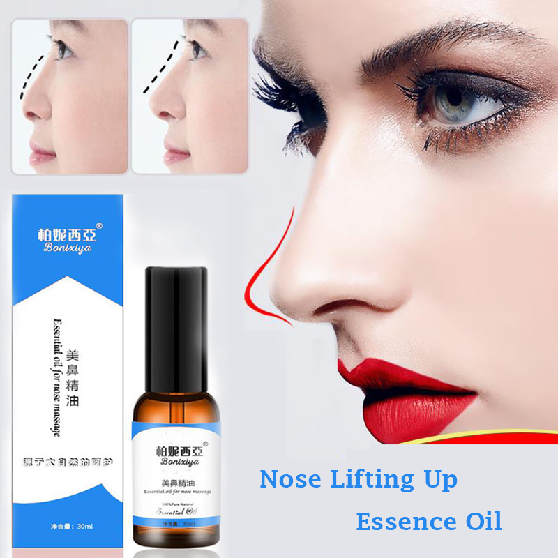 Nose Up Heighten Rhinoplasty oil 30ml Nose Up Heighten Rhinoplasty Nasal Bone Remodeling Pure Natural Care Thin Smaller nose(China)