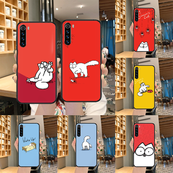 Simons cat cartoon cute Phone case For Xiaomi Redmi Note 7 8 8T 9 9S 4X 7 7A 9A K30 Pro Ultra black shell luxury coque fashion image