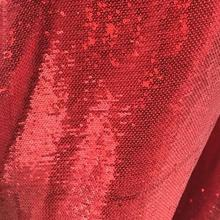 Red fish scale sequins polyester fabric beads wedding cloth, decorative costume background textiles tulle sewing C692