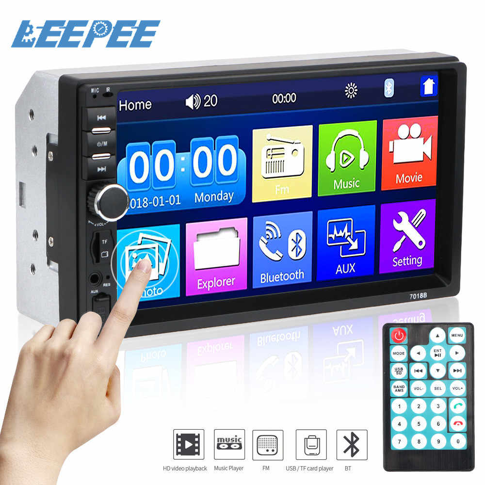 "Touch Screen Lettore Multimediale HD di 2Din Auto Radio Player 7010B /7012B/7018B Auto 7 ""MP5/FM giocatore di Auto di Inversione del Display"
