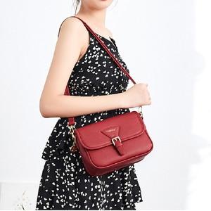 Image 2 - YIZHONG borsa a tracolla in pelle semplice borse a tracolla per donna borse e borsette di lusso borse da donna Designer Famale Messenger Bag