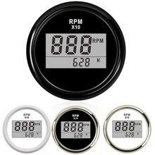 Boat-Accessories Digital Tachometer Rpm-Display Marine 52mm Waterproof with 0--9990
