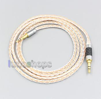 XLR 6.5mm 4.4mm 2.5mm 800 Wires Silver + OCC Headphone Cable For Creative live2 Aurvana Sennheiser PXC480 PXC550 mm450 LN006906