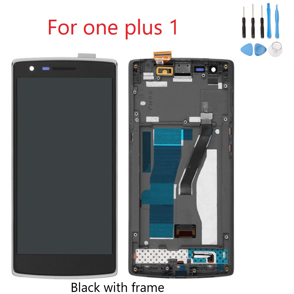 For One Plus One LCD Display Touch Screen With Frame Digitizer Replacement For One Plus One A0001 LCD Free Shipping