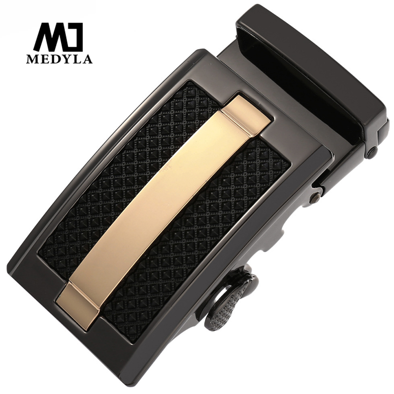 MEDYLA Luxury Belt Buckle For Men Hard Metal Fashion Business Automatic Buckle 120 G Noble Low-profile Matte Men's Belt Buckle