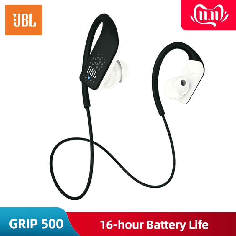 Original JBL GRIP 500 Hands free Wireless Headphones Bluetooth Sport Earphone Call with Mic Music fone de ouvido Sweatproof-in Phone Earphones & Headphones from Consumer Electronics