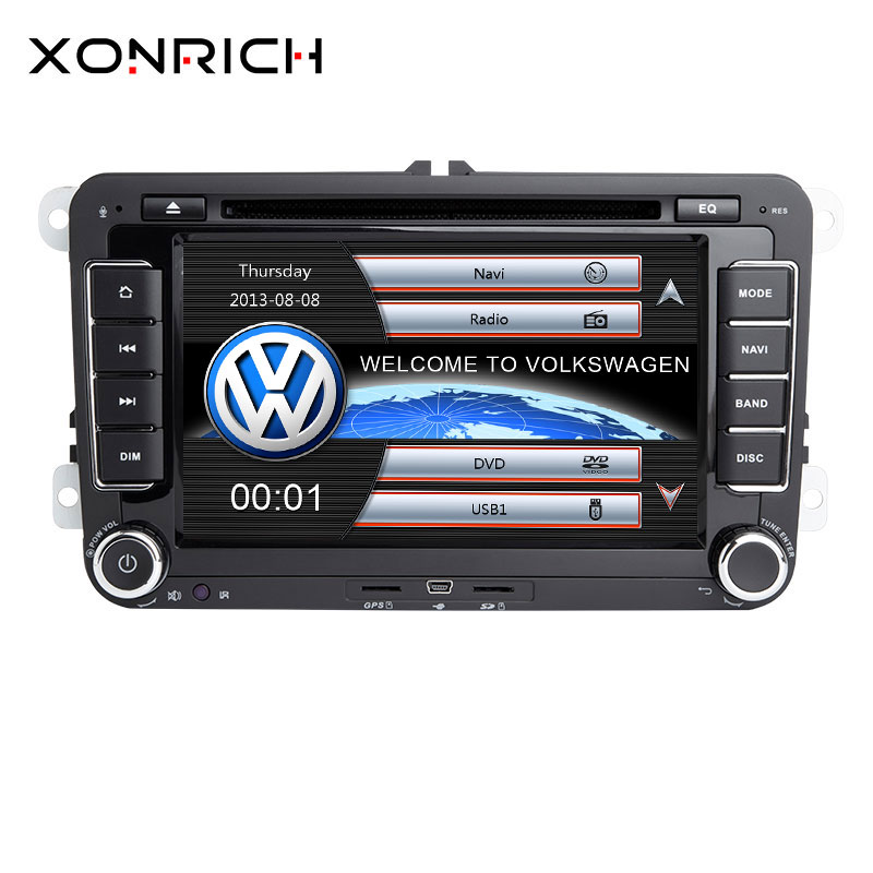 2 Din Car DVD Player For VW Volkswagen Passat b6 b7 amarok Skoda Octavia Superb 2 T5 <font><b>Golf</b></font> 5 Polo Seat leon Radio GPS Navigation image